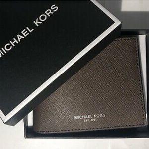 Michael Kors Slim Leather Billfold- Black